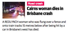Cairns woman dies