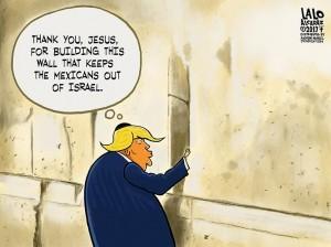 TRump israel wall