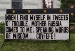 Trump tweets of trouble