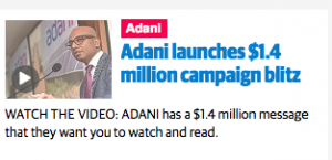 Adani message