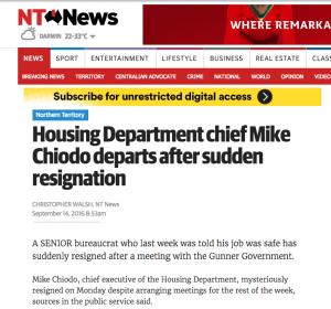 Chiodo NT News