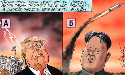 Trump and kim by Peter Schrank
