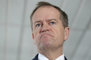 Bill Shorten grimacing