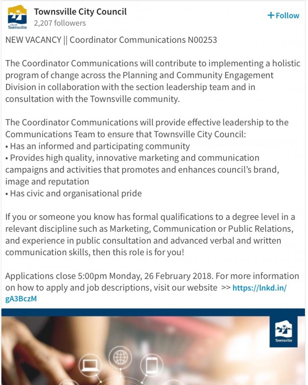 TCC vacancy