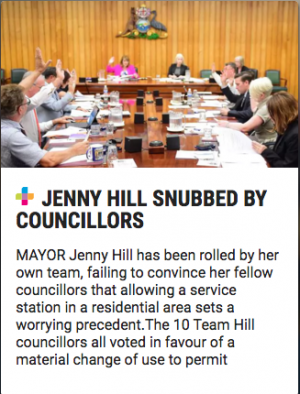 Jenny Hill in ouncil