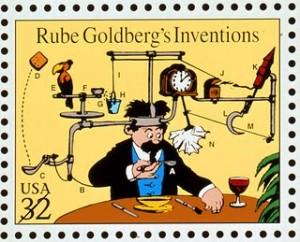 Rube Goldbergg soup cooler