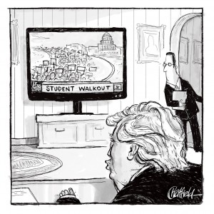 They probably got the idea from one of these protesty video games. (Courtesy New Yorker Magazine)