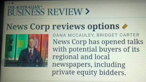 News selling?