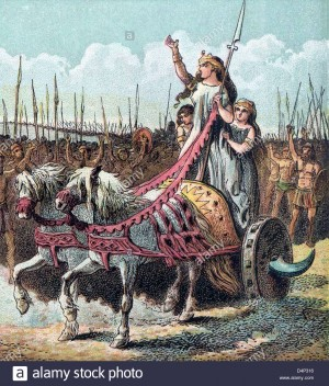 Boadicea, leader of the rebellion against the Romans Date 1868