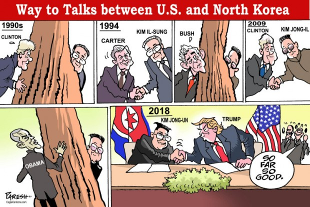 trump historical with NK