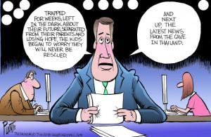 Bruce Plante Cartoon: Trapped Kids