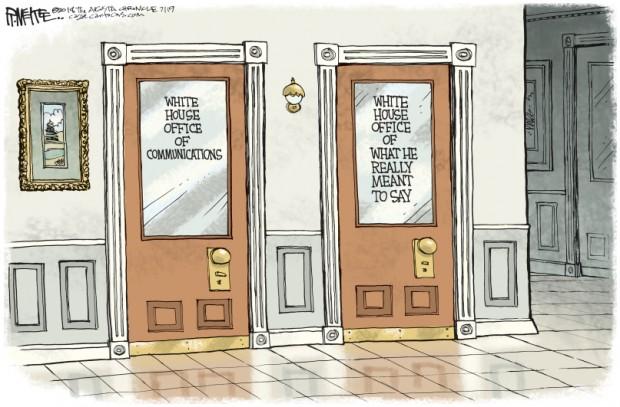 trump - doors