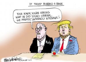 Trump rob bank