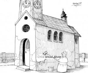 karikatur für tribüne-vertuschung