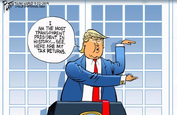 Bruce Plante Cartoon: Transparent Trump