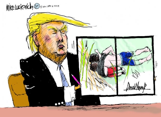 25_political_cartoon_u.s._trump_bill_signing_rio_grande_father_and_daughter_picture_-_mike_luckovich_creators