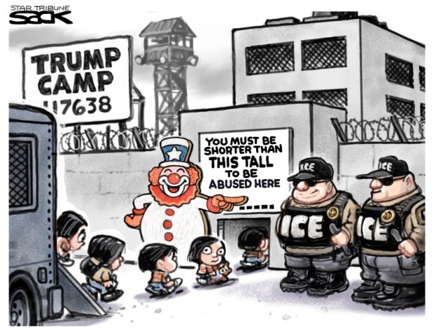 5_political_cartoon_u.s._child_detention_ice_abuse_trump_camps_-_steve_sack_cagle