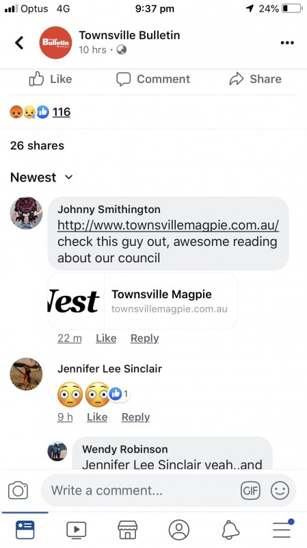 magpie on astonisher fb