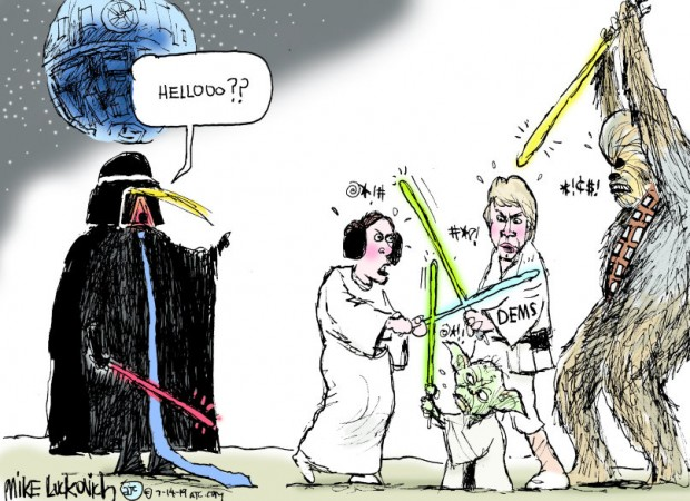 22_political_cartoon_u.s._trump_democrats_star_wars_infighting_-_mike_luckovich_creators
