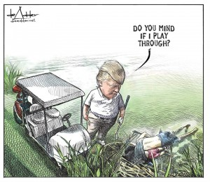 Cartoonist Michael DeAdder fired
