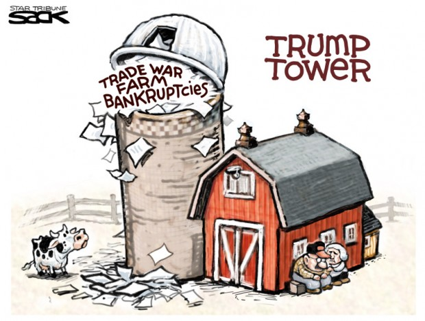 8_political_cartoon_u.s._trump_tower_grain_silo_trade_war_farm_bankruptcies_-_steve_sack_cagle