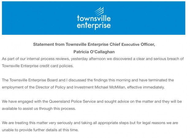 TEL McMillan statement