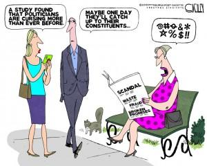 Pollies swearing