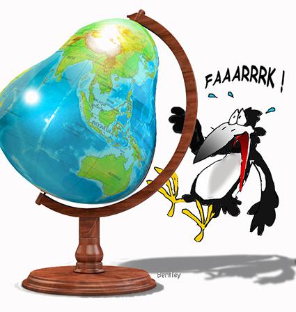 Pear- globe flat small