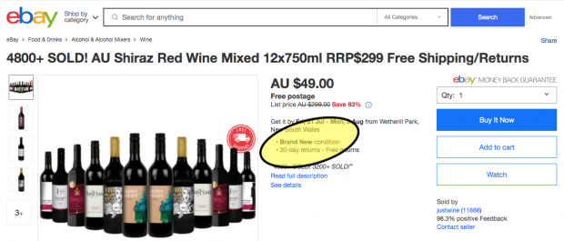 Ebay wine ad Screen Shot 2020-07-25 at 11.19.05 am