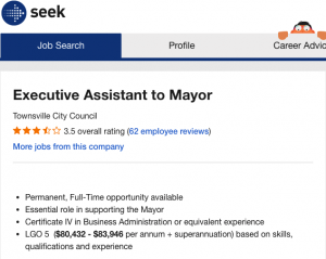 Exec mayoral assistant Screen Shot 2021-03-13 at 9.11.26 pm