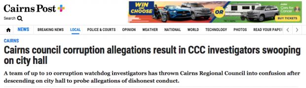 Cairns Post council corrupt Screen Shot 2021-06-04 at 3.54.35 pm