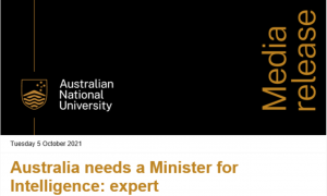 minister for Intelligence Screen Shot 2021-10-06 at 8.04.00 am